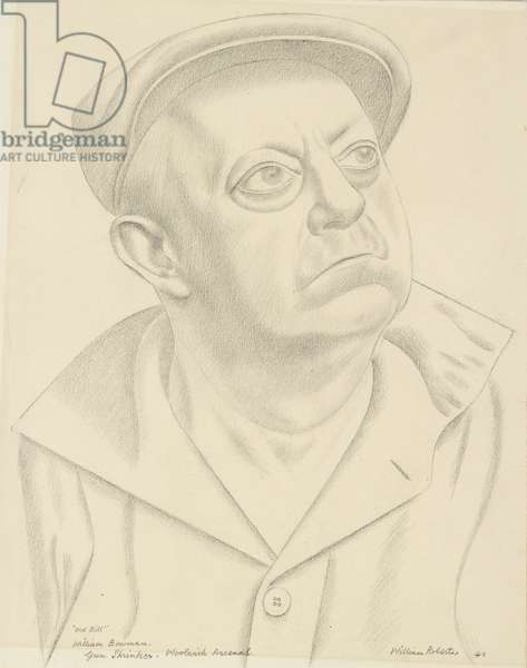 Old Bill (William Bowman, a Gun Shrinker at Woolwich Arsenal), 1940 (graphite on paper)