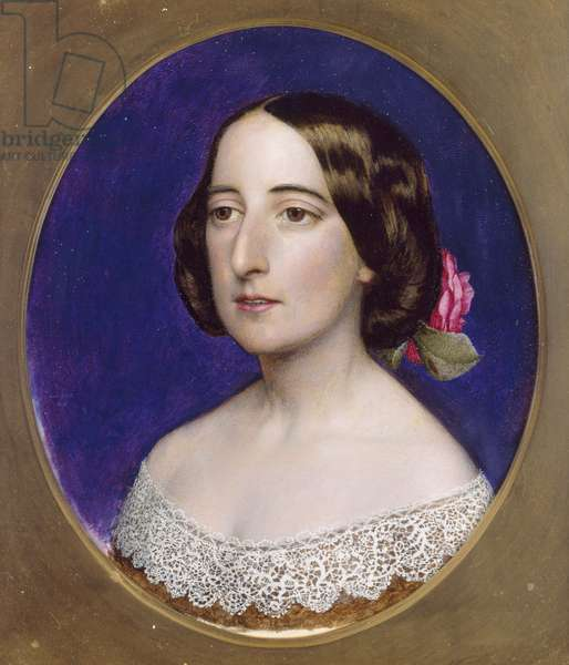Mrs Coventry Patmore, pre 1856 (oil on card)