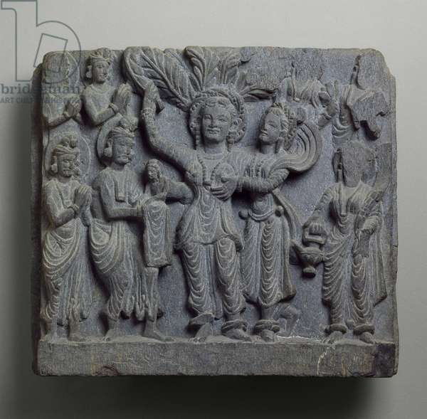 Relief depicting the Birth of Buddha, Gandhara, probably Sikri, 2nd-3rd century (schist)