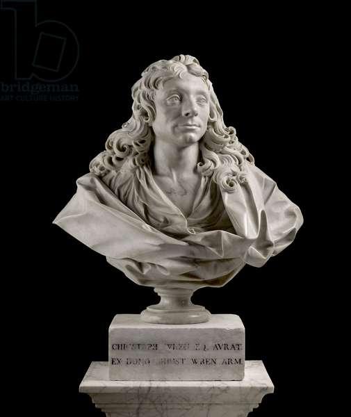Sir Christopher Wren (1632–1723), 1673 (marble)