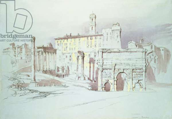 The Forum, Rome, 19th century (w/c on paper)