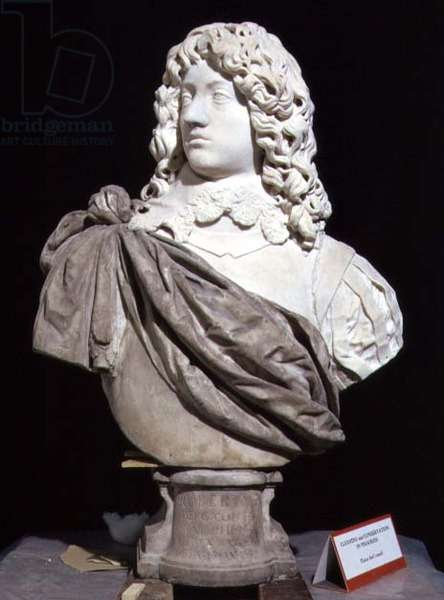 Bust of Prince Rupert (1619-82) Count Palatine of the Rhine and Duke of Bavaria (marble)