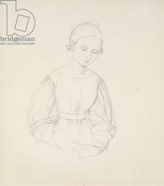 Portrait of the Artist's Wife, Nina, c. 1830 (graphite on paper)