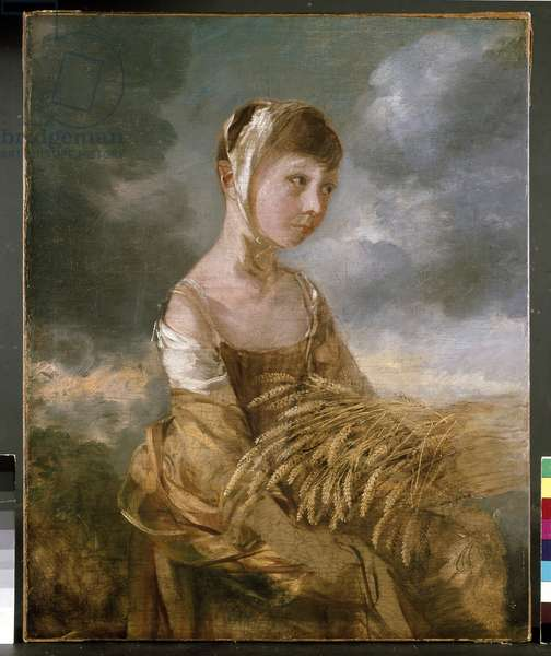 Miss Gainsborough Gleaning, 18th century (oil on canvas)