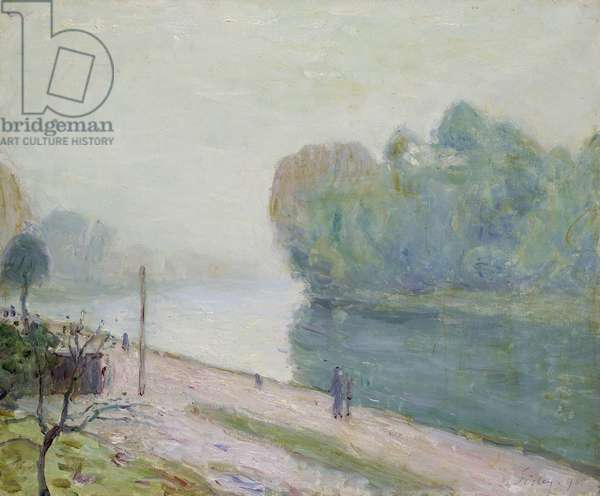 A Bend in the River Loing, 1896 (oil on canvas)