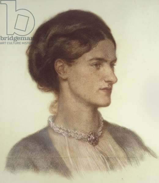 Portrait of Rosalind, Countess of Carlisle, 1870 - 1870 (coloured chalk on grey-green paper)