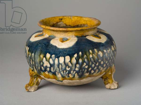 Bowl on three legs, Henan province (earthenware)