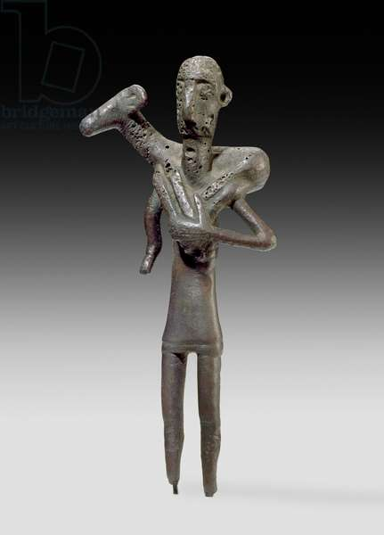 Shepherd figure, Sardinian (bronze) (for reverse see 419816)