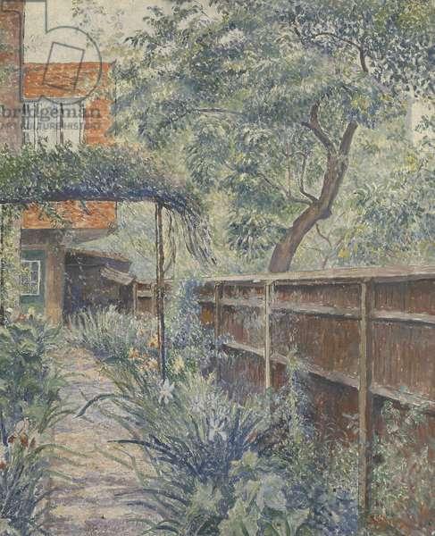 My Studio Garden, 1938 (oil on canvas)
