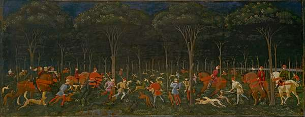 The Hunt in the Forest, c.1465-70 (oil on panel)