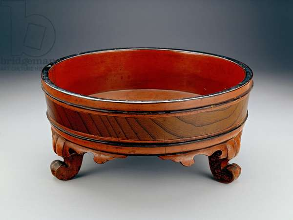 Basin used for a Buddhist hand-washing ceremony, 1345 or 1406 (lacquered wood)