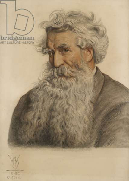 Portrait of Thomas Combe, Printer to the University (1796-1872) (Red and black chalk)