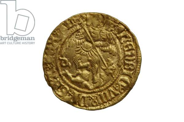 Tudor coin from the Asthall Hoard, 1470-1526 (gold)