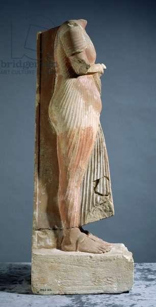 Statue of Akhenaten, view from side