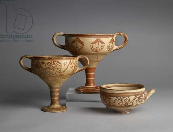 Two-handled stemmed kylixes (ceramic)