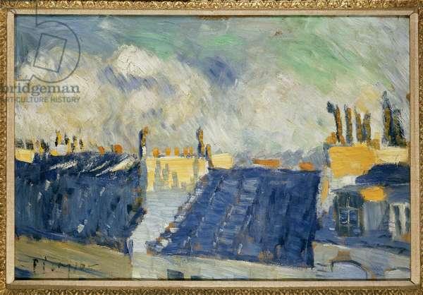 Blue Roofs, Paris, 1901 (oil on millboard)