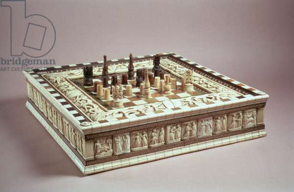 Chess board, 15th century (ivory)