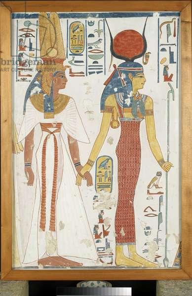 Copy of wall painting, depicting 'Nefertari and Isis', from a Theban Tomb, New Kingdom