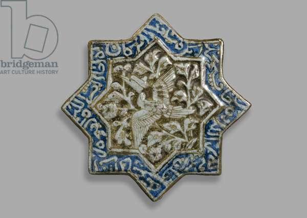 Star tile, c.1400 (ceramic with lustre)