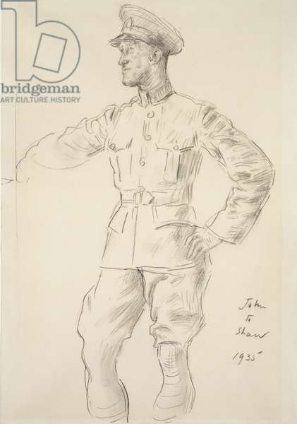 Portrait of Aircraftman T.E. Shaw, 1935 (charcoal on paper)
