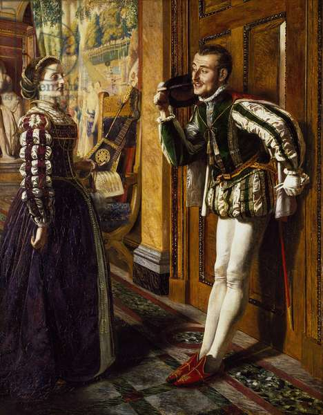 The Taming of the Shrew: Katherine and Petruchio, 1855 (oil on canvas)