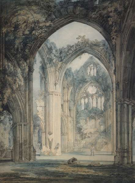 Transept of Tintern Abbey, Monmouthshire, c. 1794 (watercolour over graphite with pen and black ink)