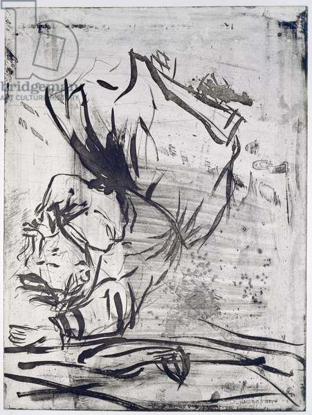 A Fascist Flew Past, Japanese, 1998-1999 (drypoint, etching and aquatint)