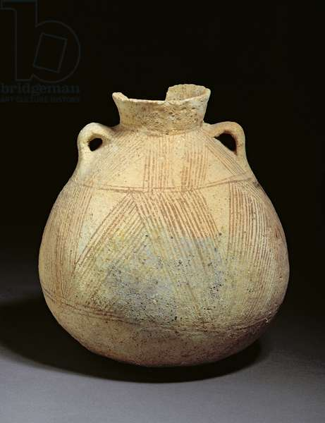 Painted jar from tomb A13, Jericho, Jordan (clay)