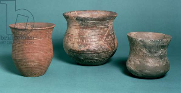 Beakers, from Los Millares in Spain, Stanton Harcourt in Oxfordshire and Hungary, Copper Age, c.2000 BC (pottery)