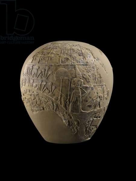 Mace-head of Scorpion King, 3100-3000 BC (limestone)