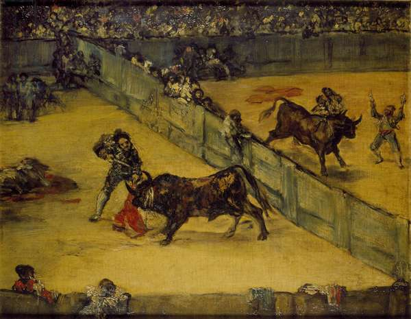 Scene at a Bullfight: The Divided Ring, 18th century (oil on canvas)