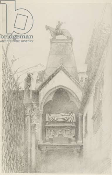 Study of the Tomb of Can Grande della Scala at Verona, May - August 1869 (graphite on paper)