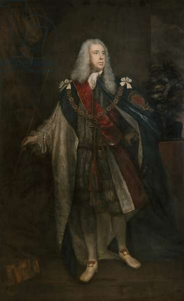 Portrait of Charles Fitzroy, 2nd Duke of Grafton, 1755-57 (oil on canvas)