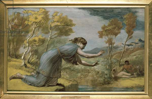 Psyche at the Stream (oil on board)