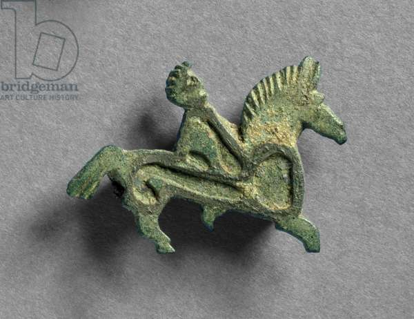 Brooch in the form of horse and riders (bronze) (detail of 201447)