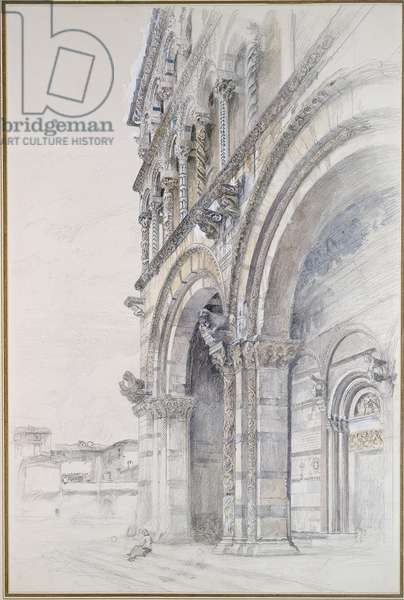The Duomo of San Martino, Lucca, July - August 1874 (graphite, watercolour and bodycolour on paper, some lines ruled)