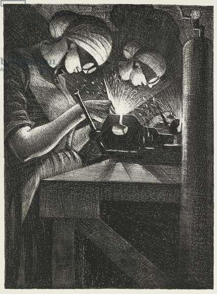 Acetylene Welders, 1917 (litho)