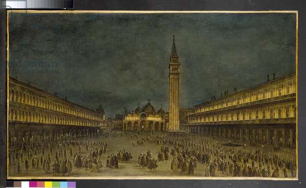 A Night Procession in the Piazza San Marco, 1750-60 (oil on canvas)