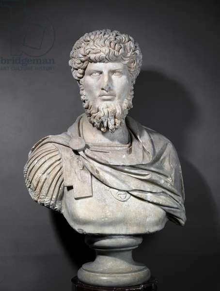 Bust of Emperor Lucius Verus (86-161) (marble)