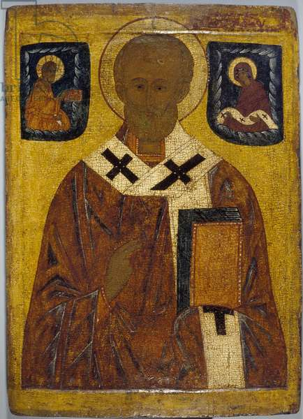 Icon of St Nicholas, 15th-16th century (oil on panel)