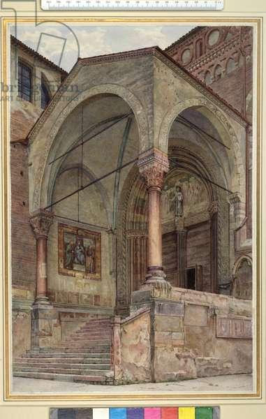The North Porch of San Fermo Maggiore, Verona, Italy, c. 1884 (watercolour on wove paper)