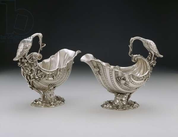 Sauceboat, pair, 1737 (silver)