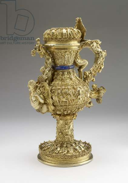 Ewer, 1520 (silver-gilt, with enamel additions)