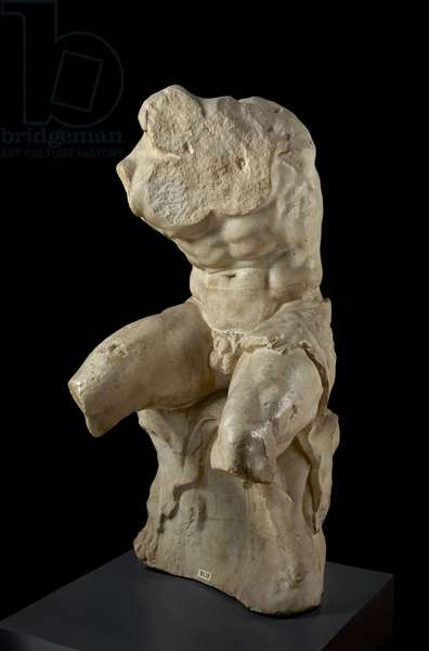 Cast of the Belvedere torso, Rome, original by Apollonius dated 1st century BC (plaster)