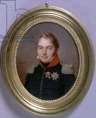 Portrait Miniature of Charles Ferdinand, Duc de Berry, 1814 (w/c on ivory)