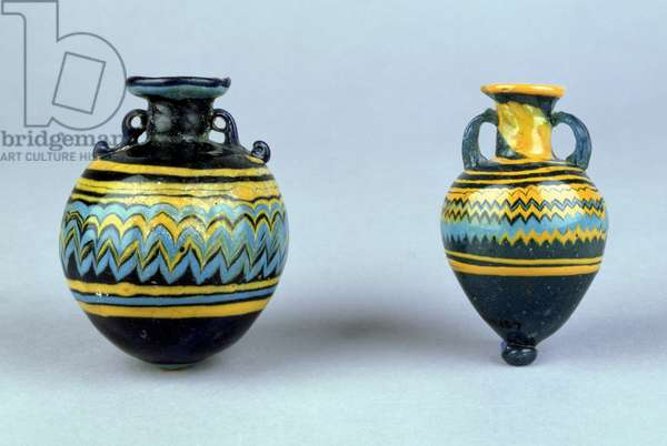 Amphorae, probably late Hellenistic, c.2nd-1st century BC (coloured glass)