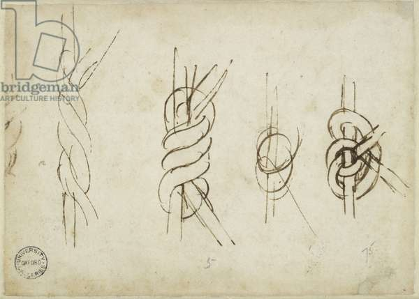 Verso: Five Sketches of Strapwork, WA1846.196 (pen & brown ink)