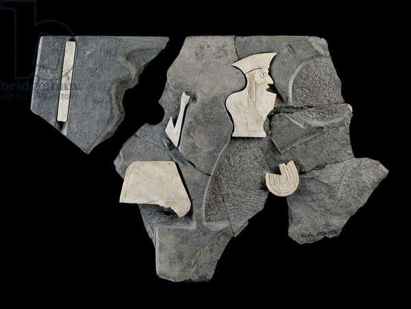 Frieze fragment (limestone & schist)