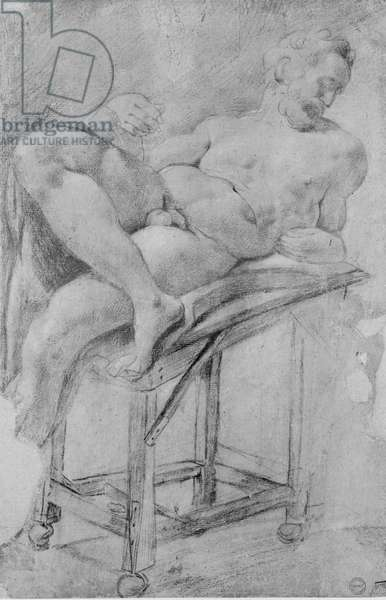Model of Evening (pencil on paper)
