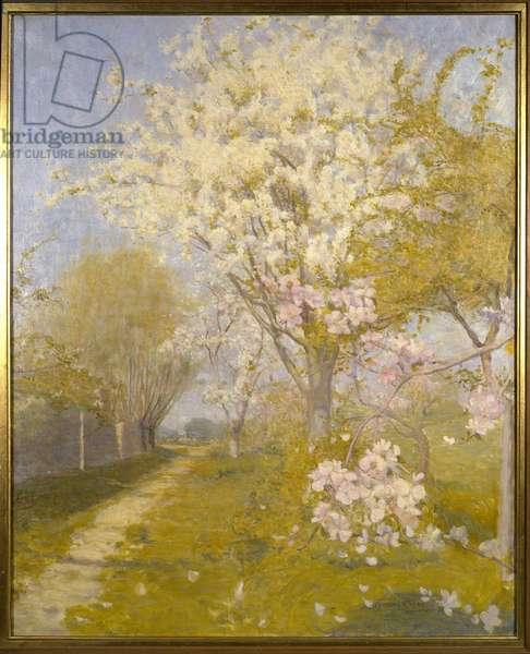 Apple Blossom at Dennemont, 1893 (oil on canvas)